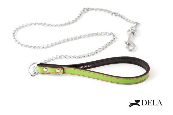 guinzaglio chained con catena e impugnatura verdina