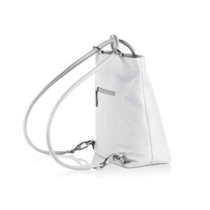 borsa zaino bianca