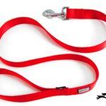 guinzaglio per cani in nylon rosso