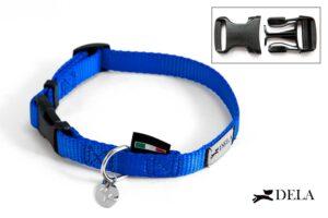 collare in nylon blu elettrico