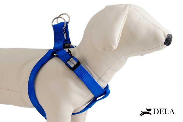 pettorina per cane in nylon blu