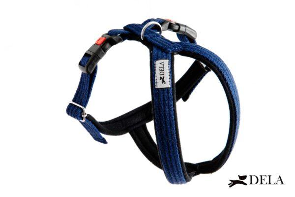 pettorina per cane in cotone blu