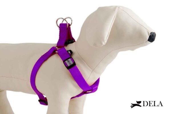 pettorina cane in nylon viola