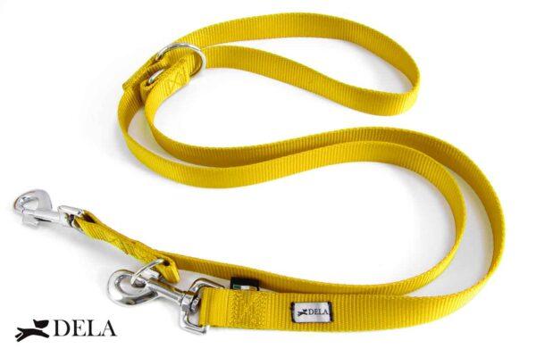 guinzaglio per addestramento in nylon giallo