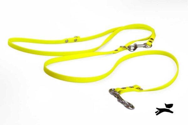 Guinzaglio biothane addestramento giallo