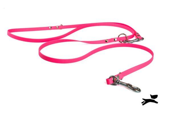 Guinzaglio biothane addestramento rosa