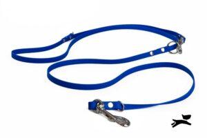 Guinzaglio biothane addestramento blu