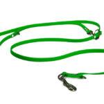 Guinzaglio biothane addestramento verde