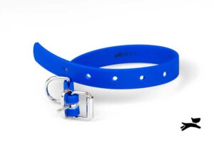 collare biothane blu